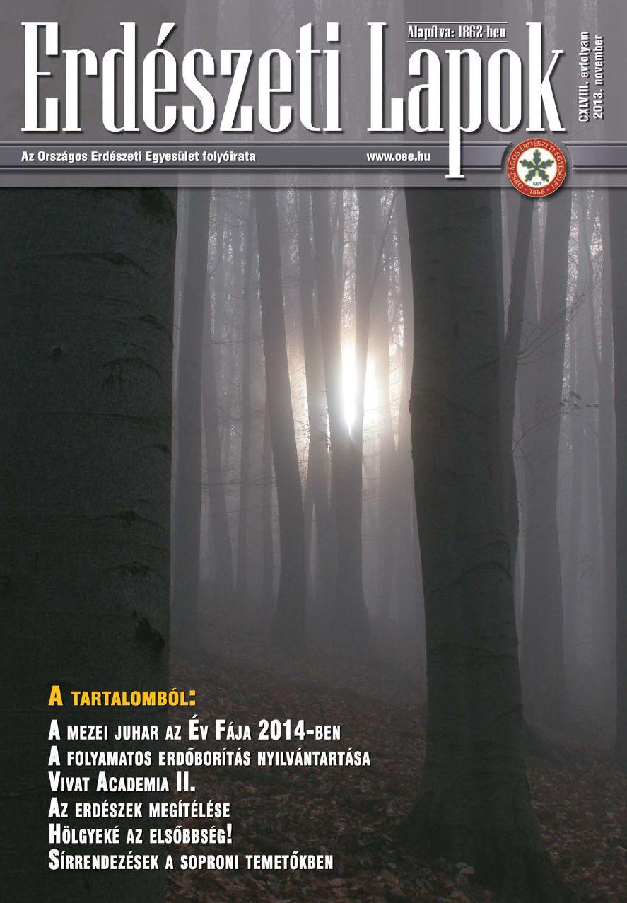 Erdészeti Lapok 2013. november