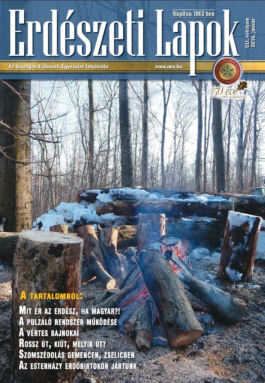 Erdészeti Lapok 2016 január - 151. évfolyam