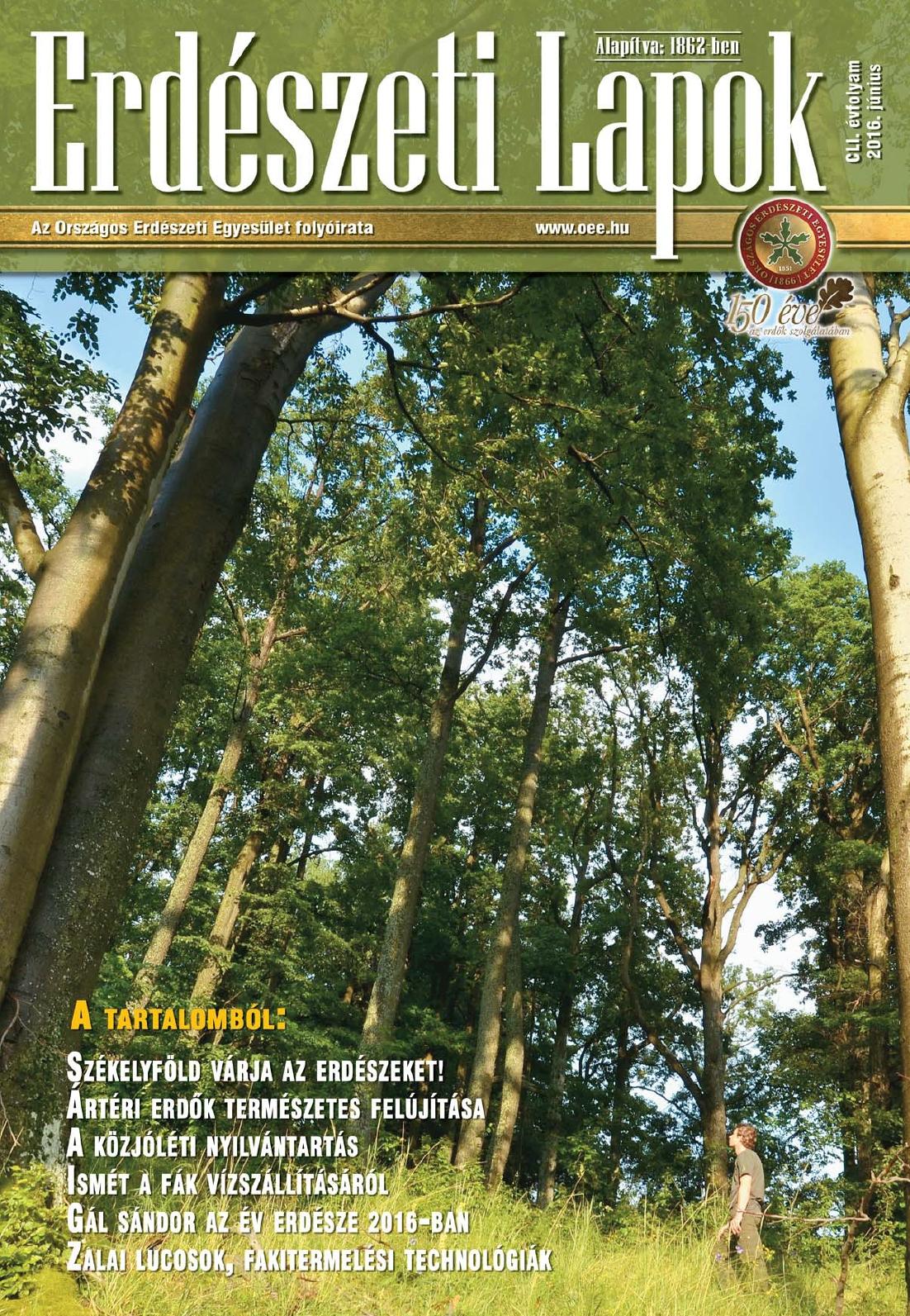 Erdészeti Lapok - 151. évfolyam - 2016. június
