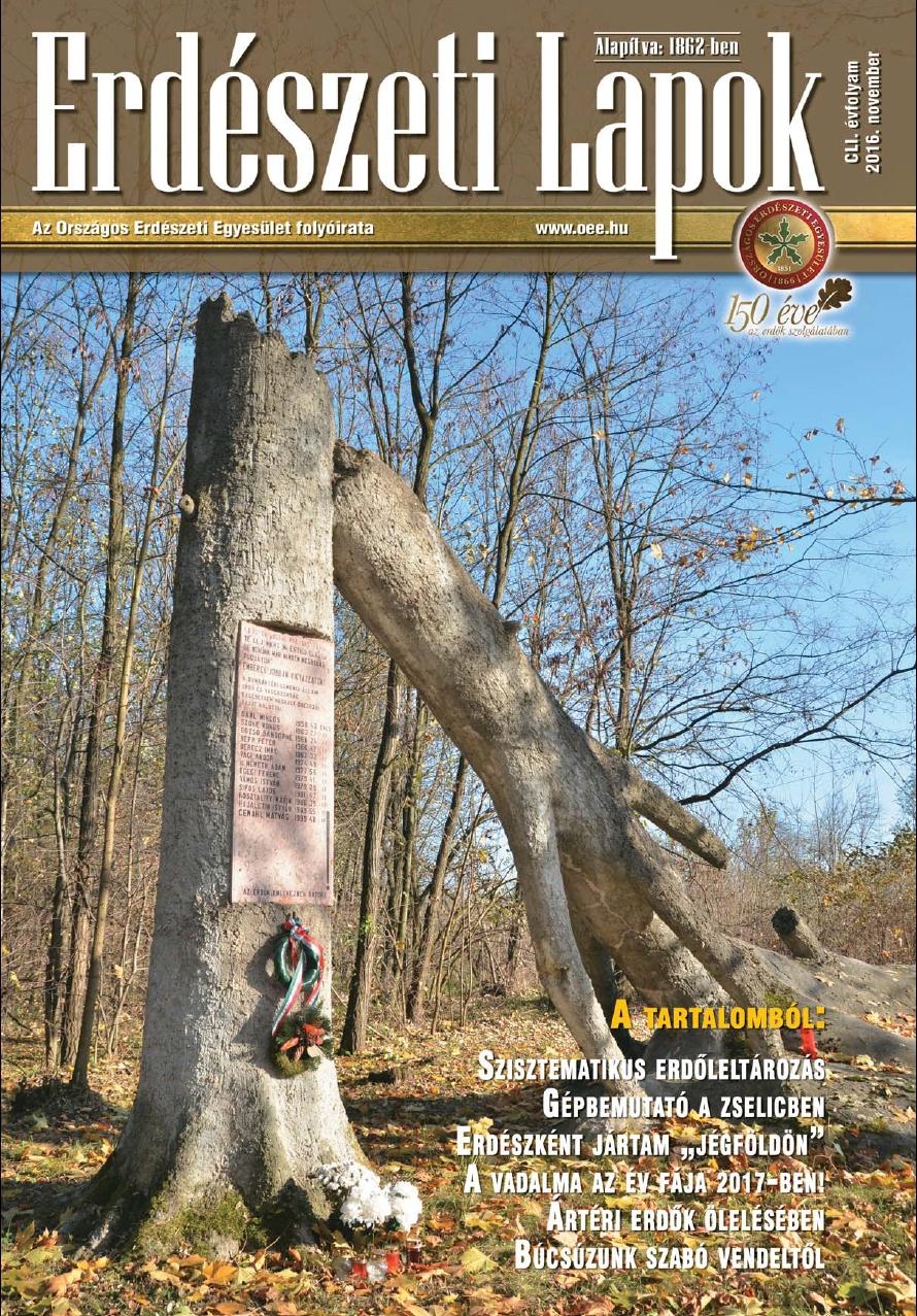 Erdészeti Lapok - 151. évfolyam - 2016. november