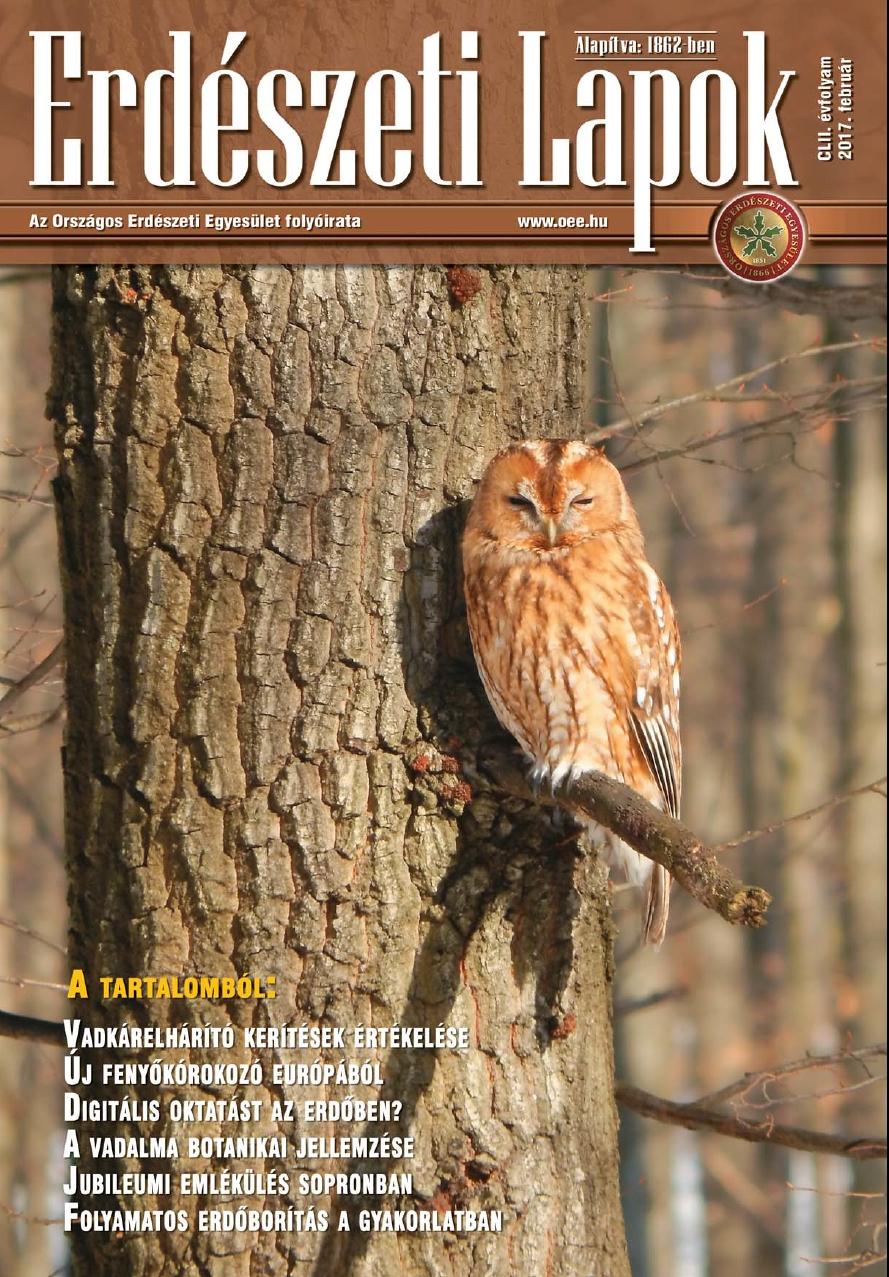 Erdészeti Lapok - 152. évfolyam - 2017. február