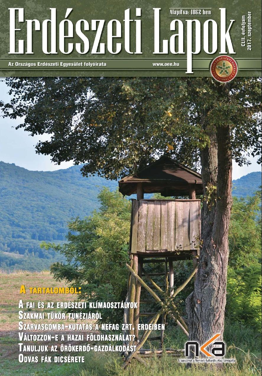 Erdészeti Lapok - 152. évfolyam - 2017. szeptember