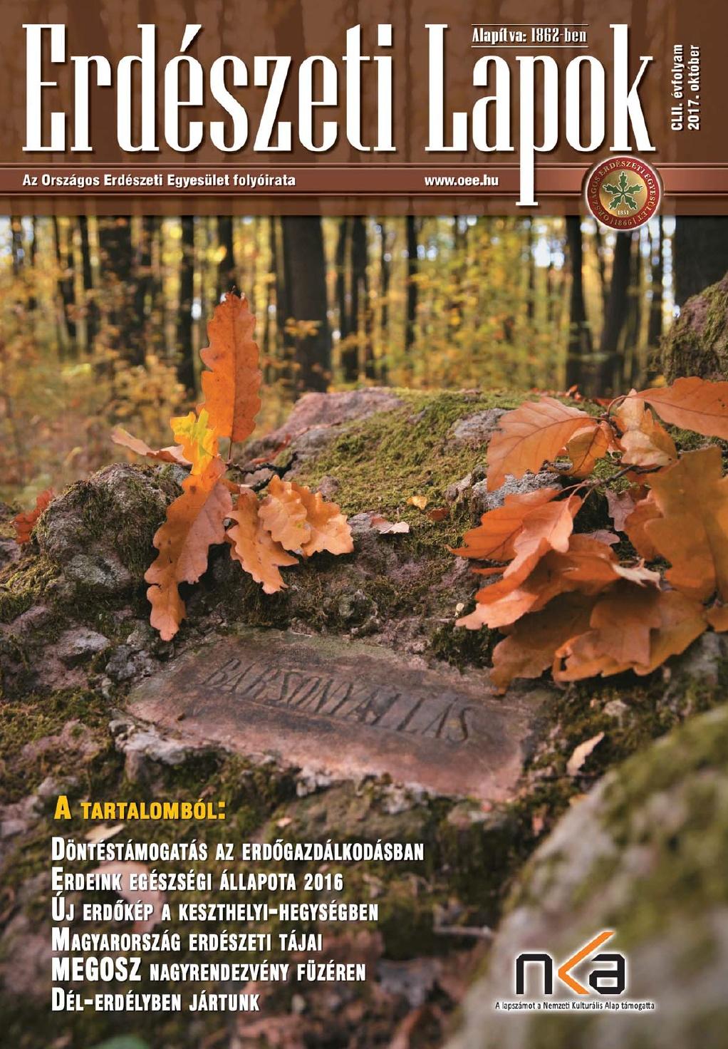Erdészeti Lapok - 152. évfolyam - 2017. október