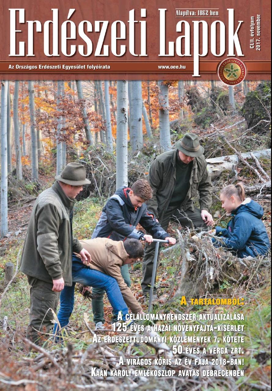 Erdészeti Lapok - 152. évfolyam - 2017. november