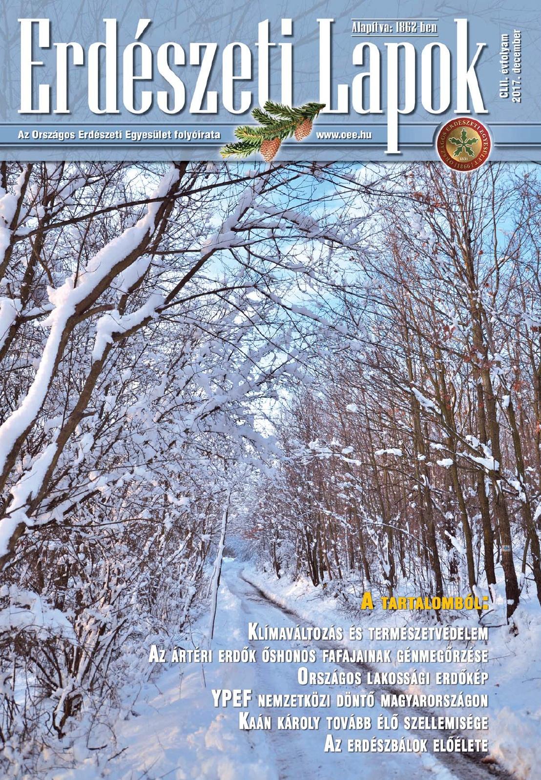 Erdészeti Lapok - 152. évfolyam - 2017. december