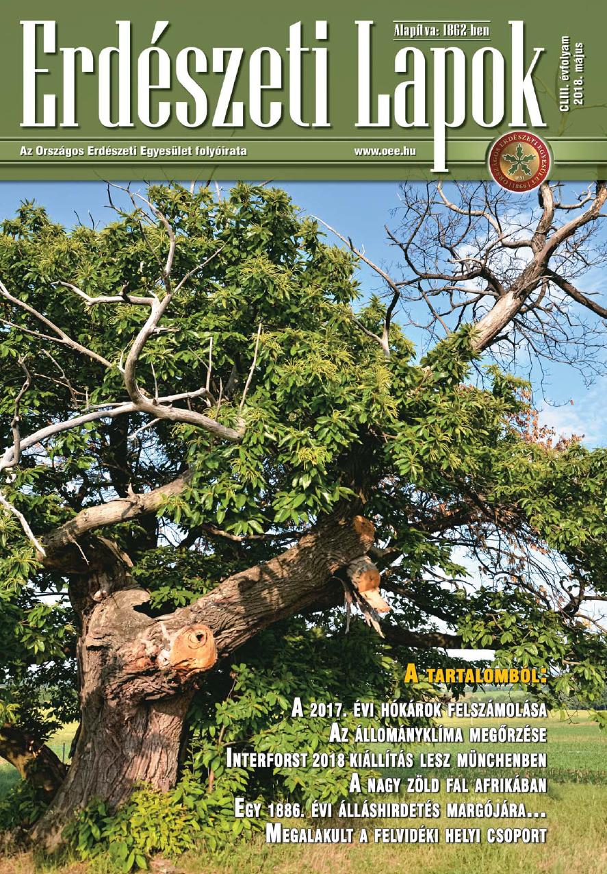 Erdészeti Lapok - 153. évfolyam - 2018. május