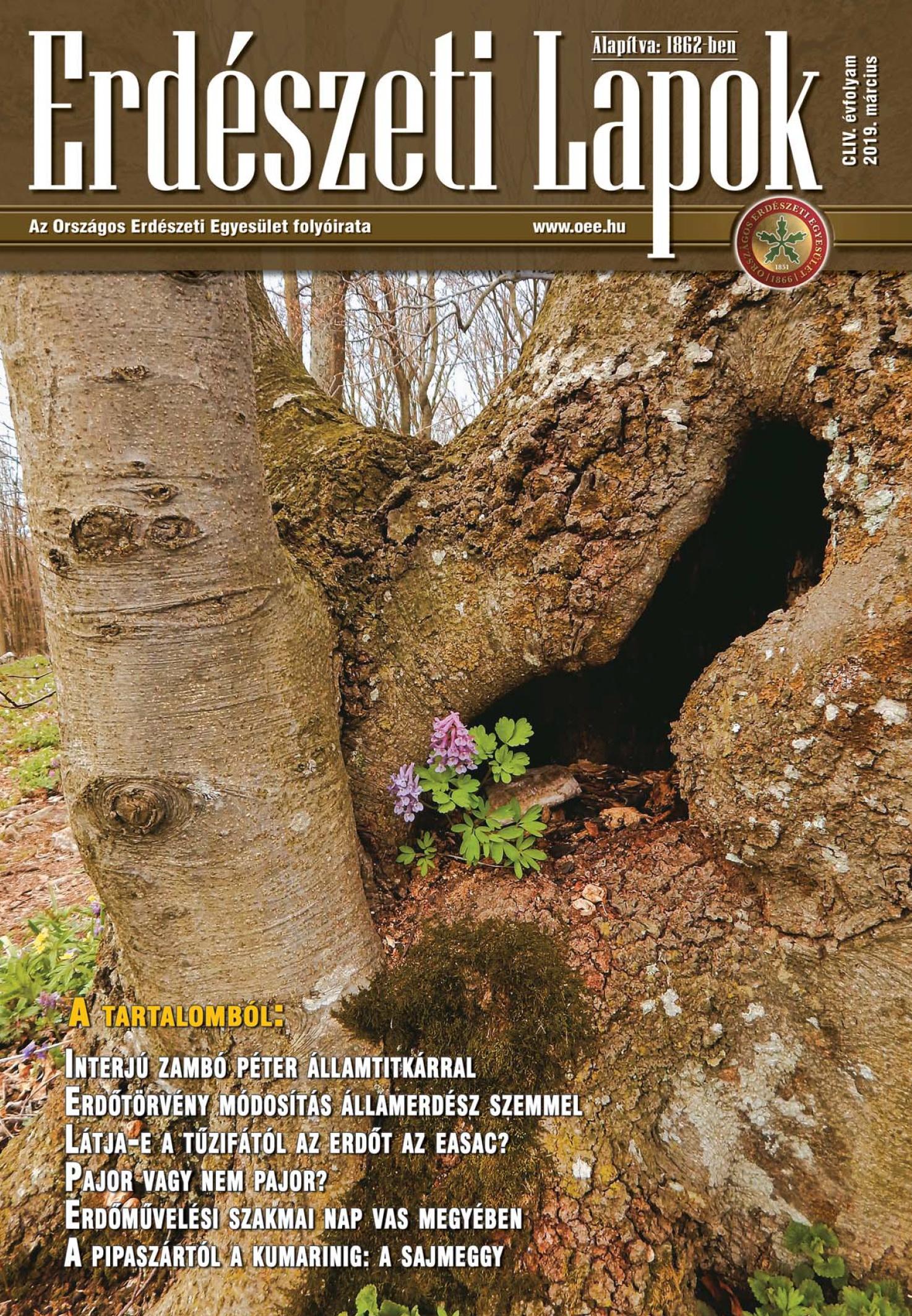 Erdészeti Lapok - 154. évfolyam - 2019. március
