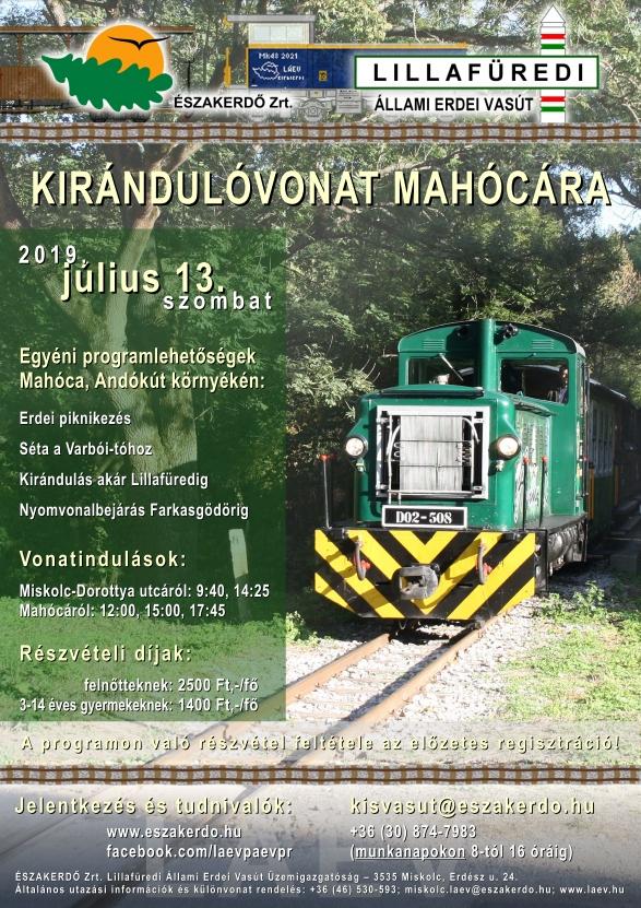 Kiránduló vonat Mahócára - ÉSZAKERDŐ Zrt. rendezvény
