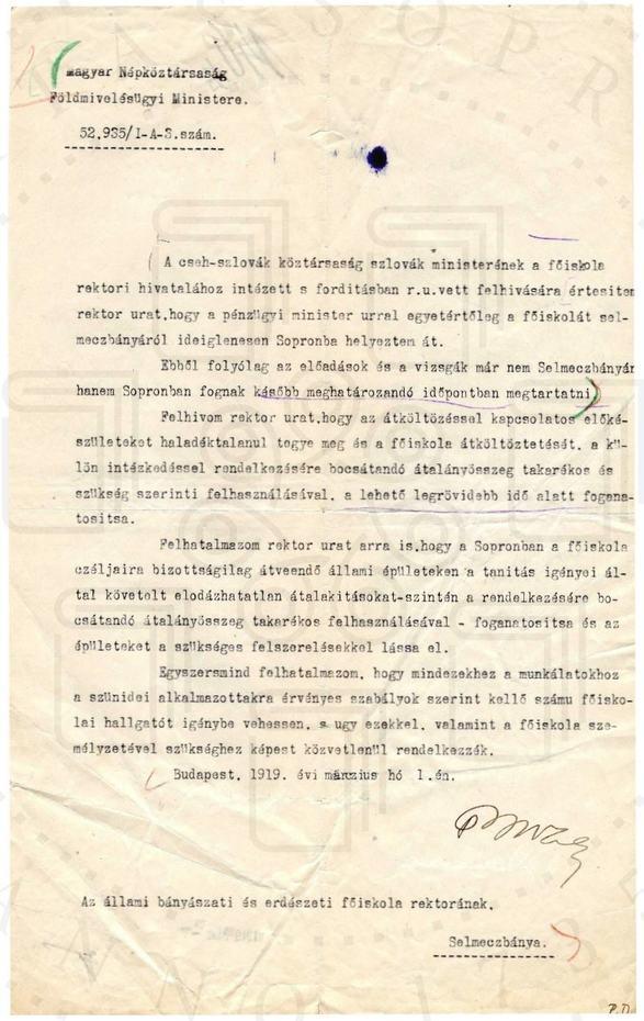 1919 februárja – Hogyan tovább Selmecről?