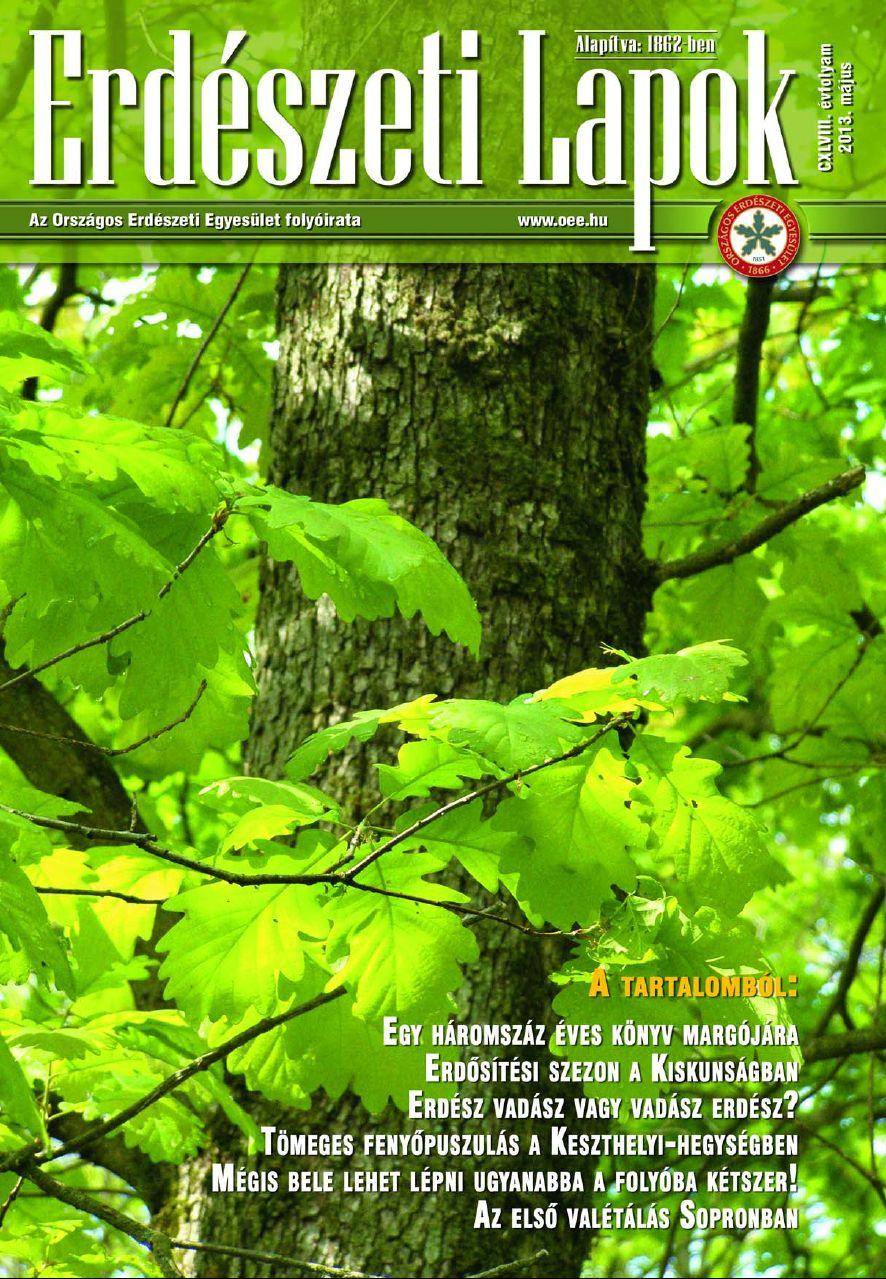 Erdészeti Lapok 2013 május
