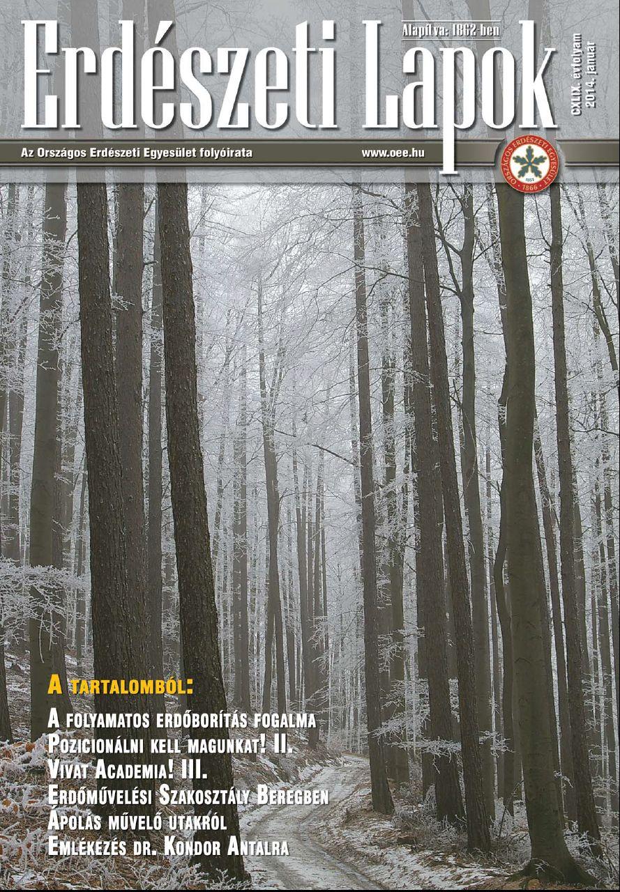 Erdészeti Lapok 2014 január