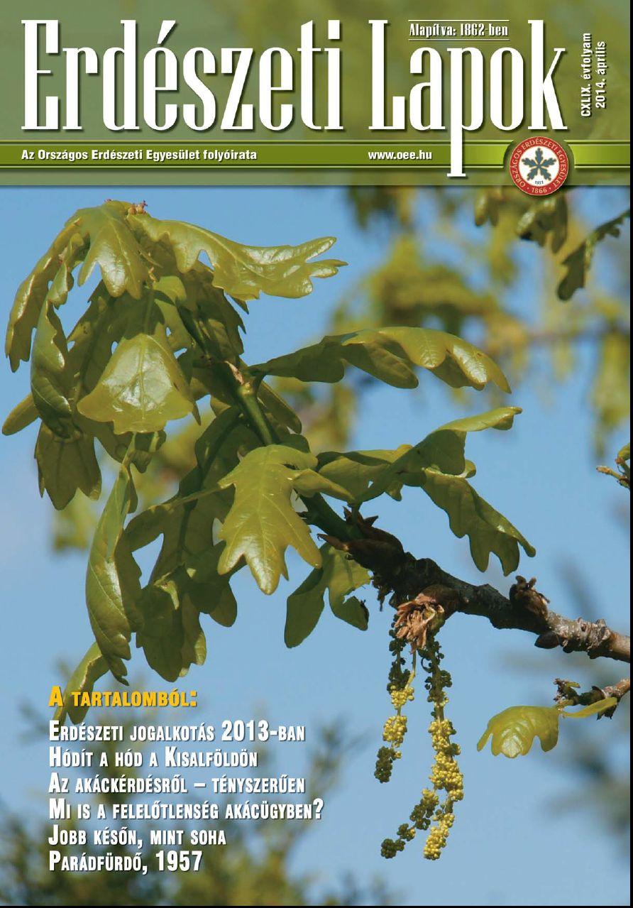Erdészeti Lapok 2014 április