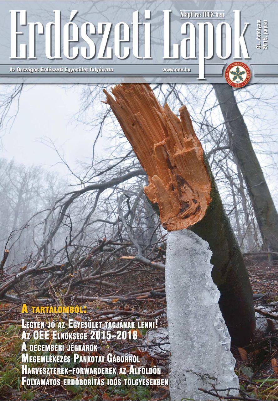Erdészeti Lapok - 150. évfolyam - 2015. január