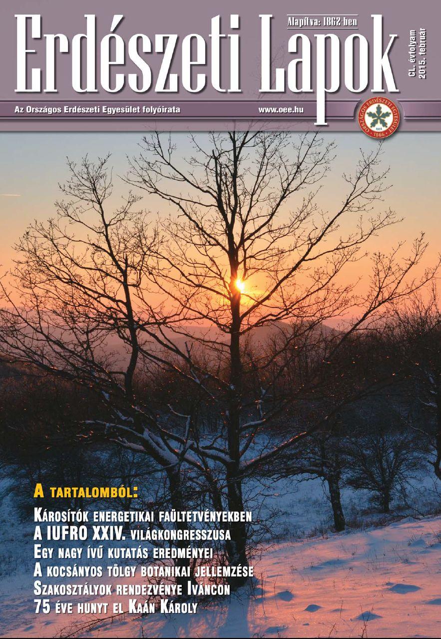 Erdészeti Lapok - 150. évfolyam - 2015. február
