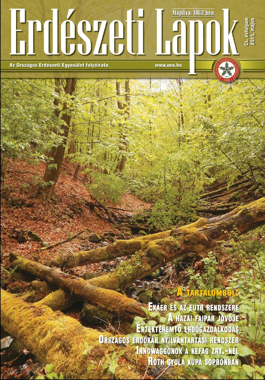Erdészeti Lapok - 150. évfolyam - 2015. május