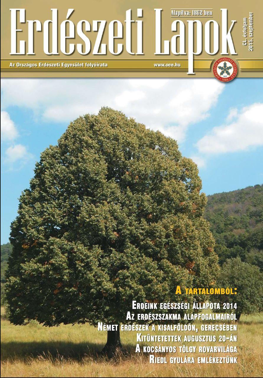 Erdészeti Lapok - 150. évfolyam - 2015. szeptember
