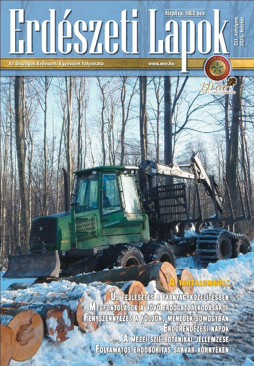 Erdészeti Lapok - 151. évfolyam - 2016. február