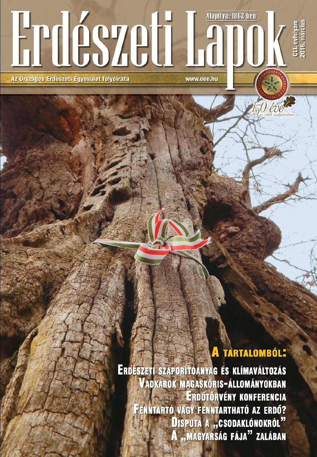 Erdészeti Lapok - 151. évfolyam - 2016. március