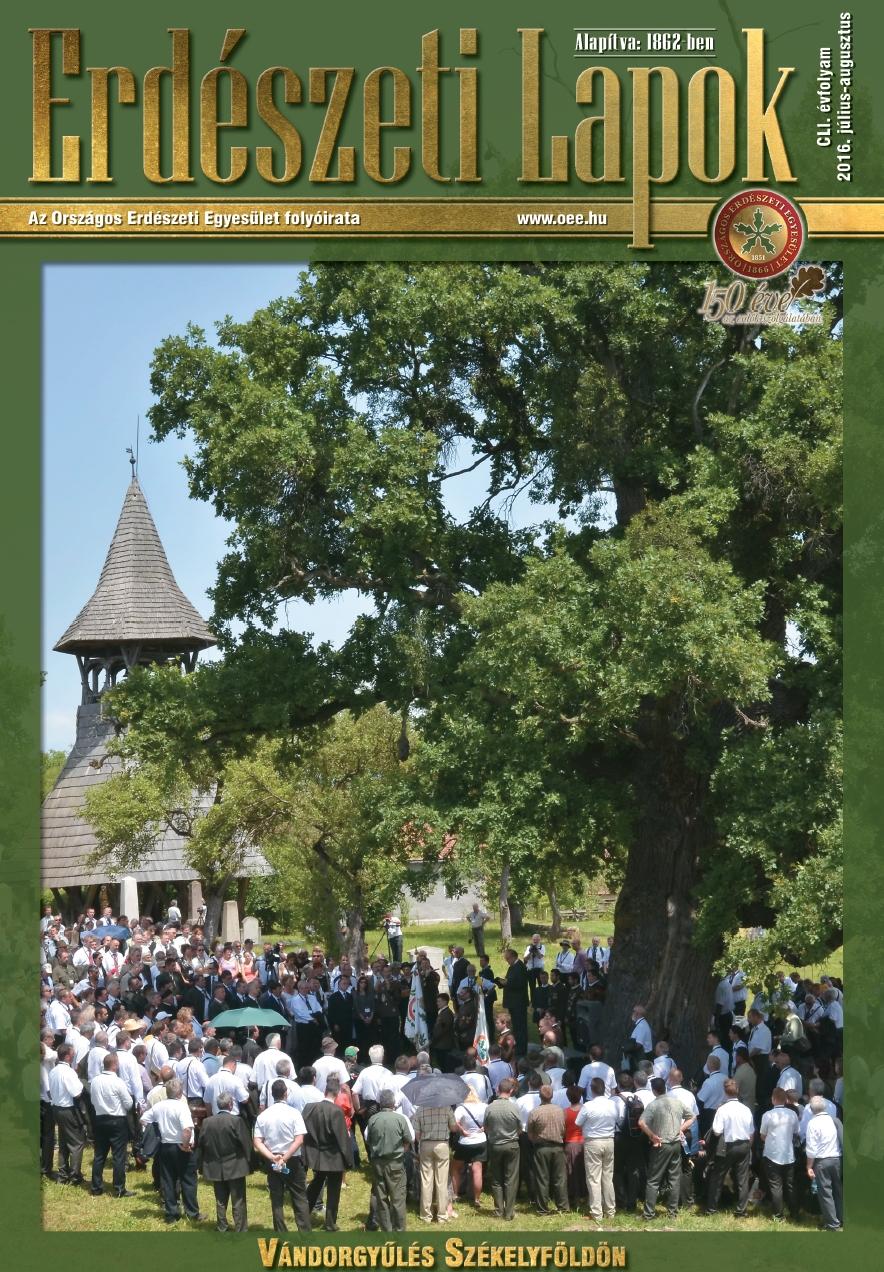 Erdészeti Lapok - 151. évfolyam - 2016. július-augusztus