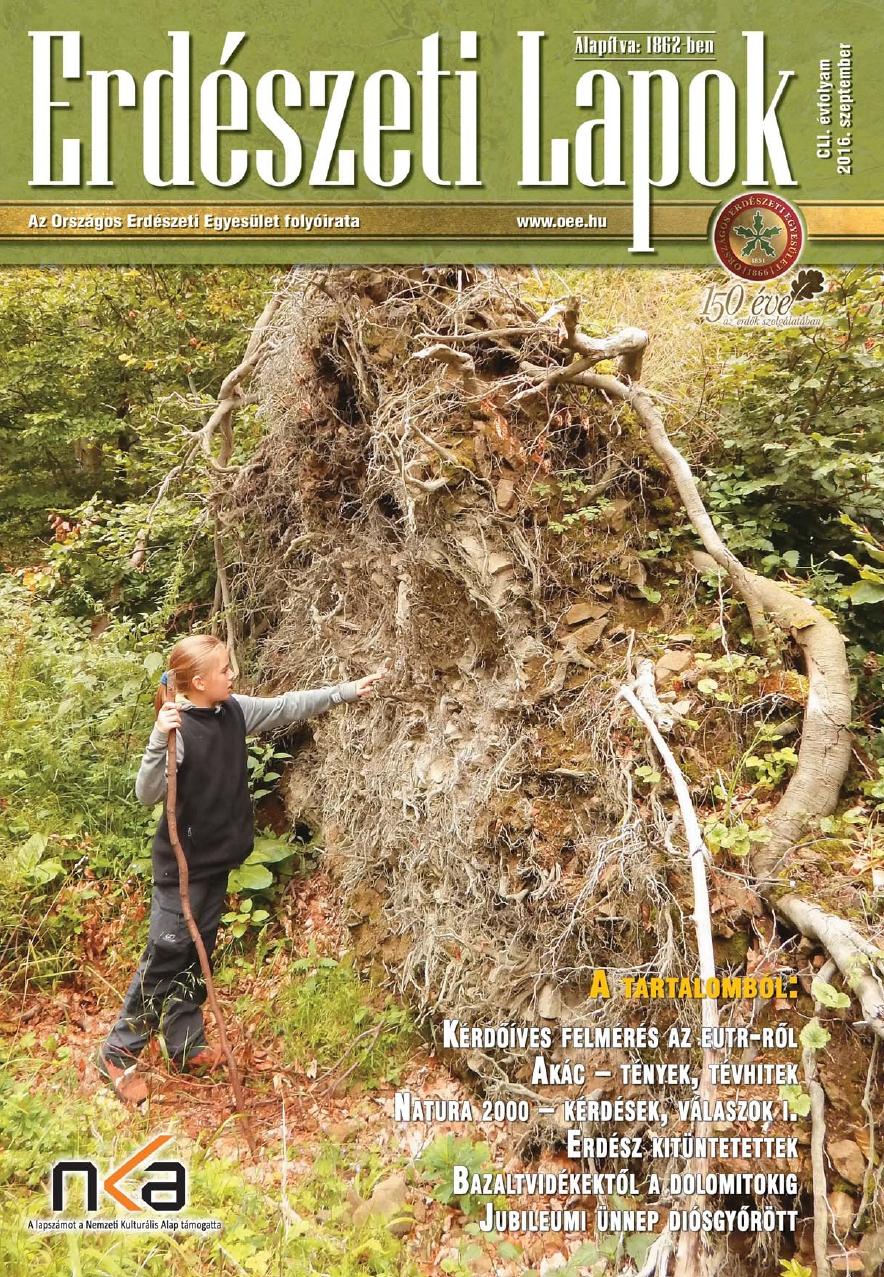 Erdészeti Lapok - 151. évfolyam - 2016. szeptember