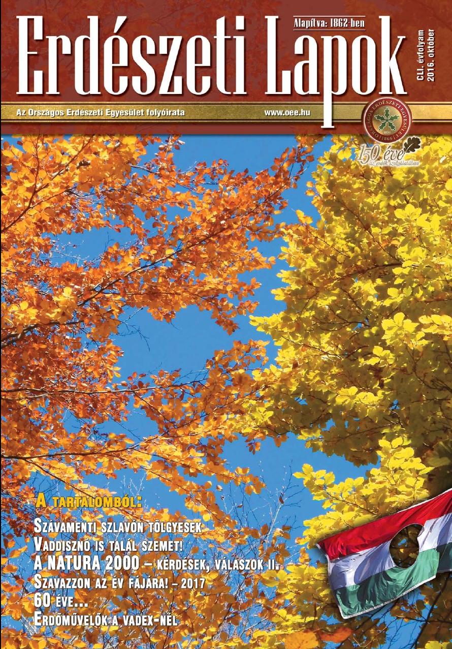 Erdészeti Lapok - 151. évfolyam - 2016. október