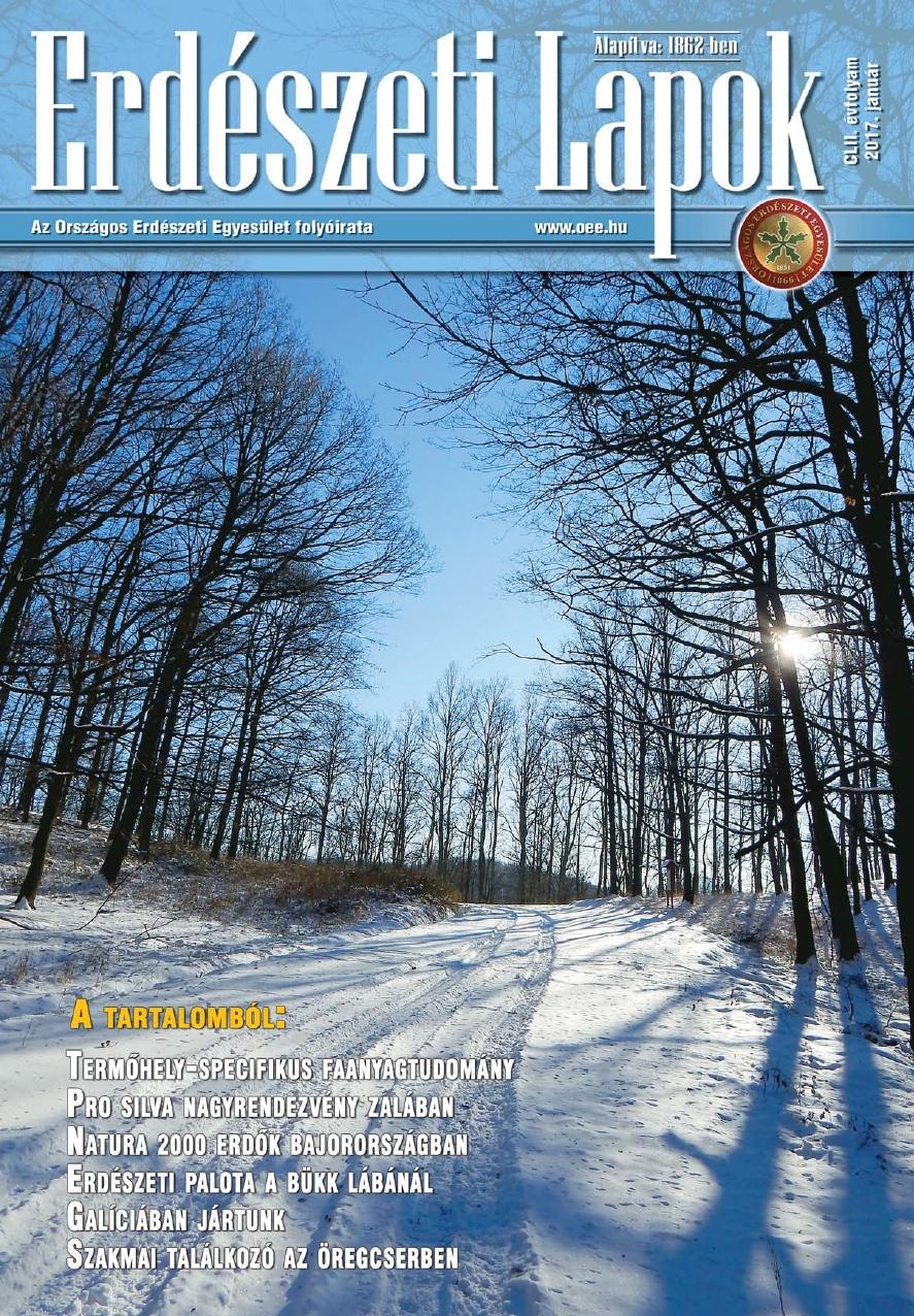 Erdészeti Lapok - 152. évfolyam - 2017. január