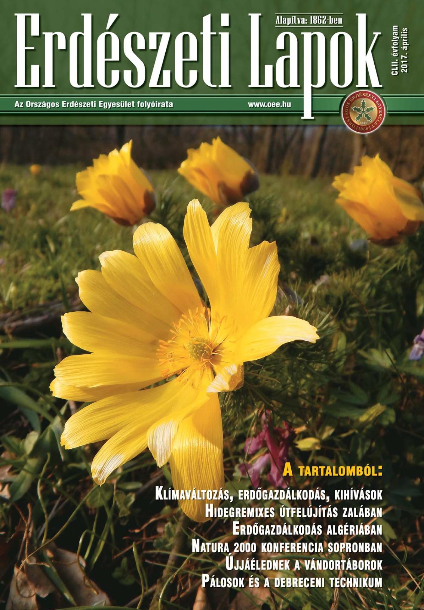 Erdészeti Lapok - 152. évfolyam - 2017. április