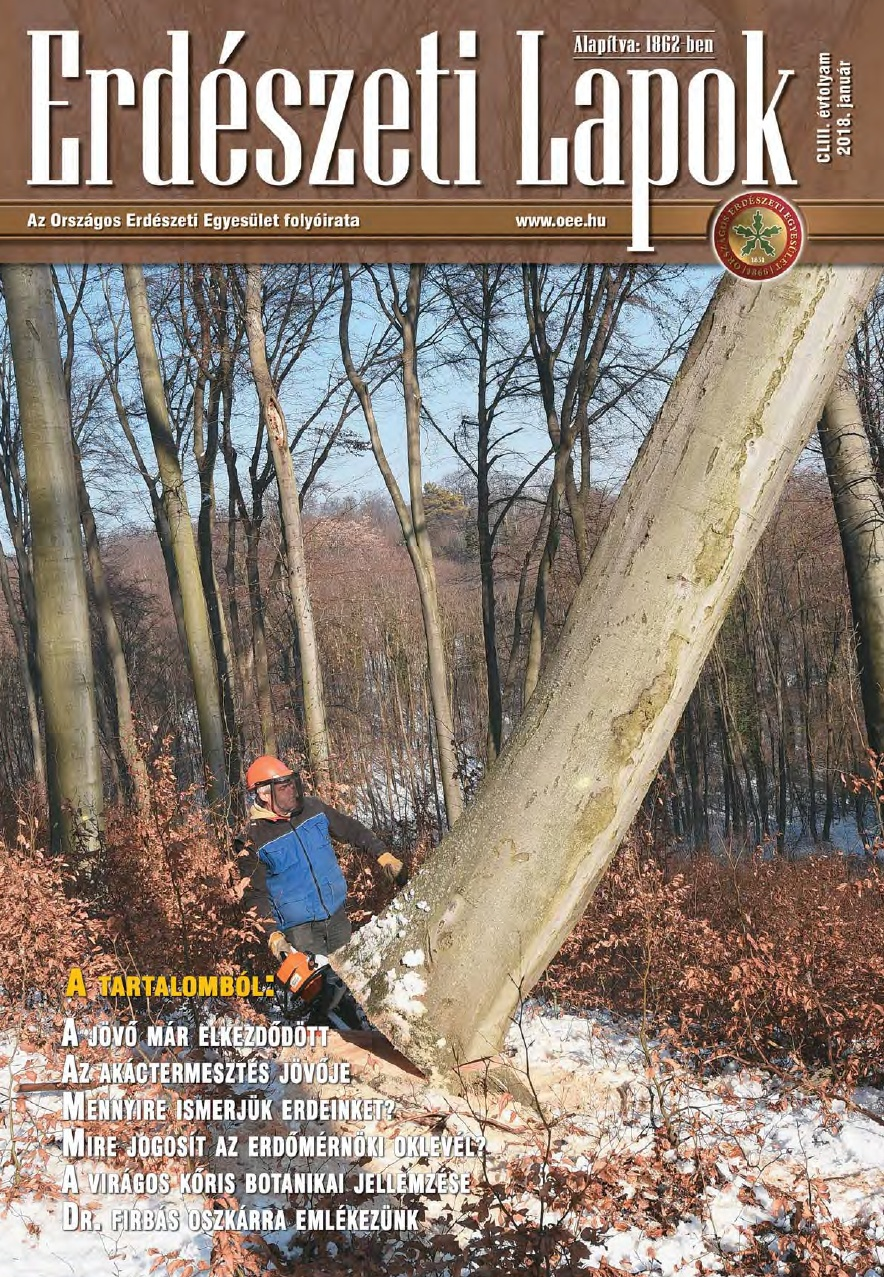 Erdészeti Lapok - 153. évfolyam - 2018. január