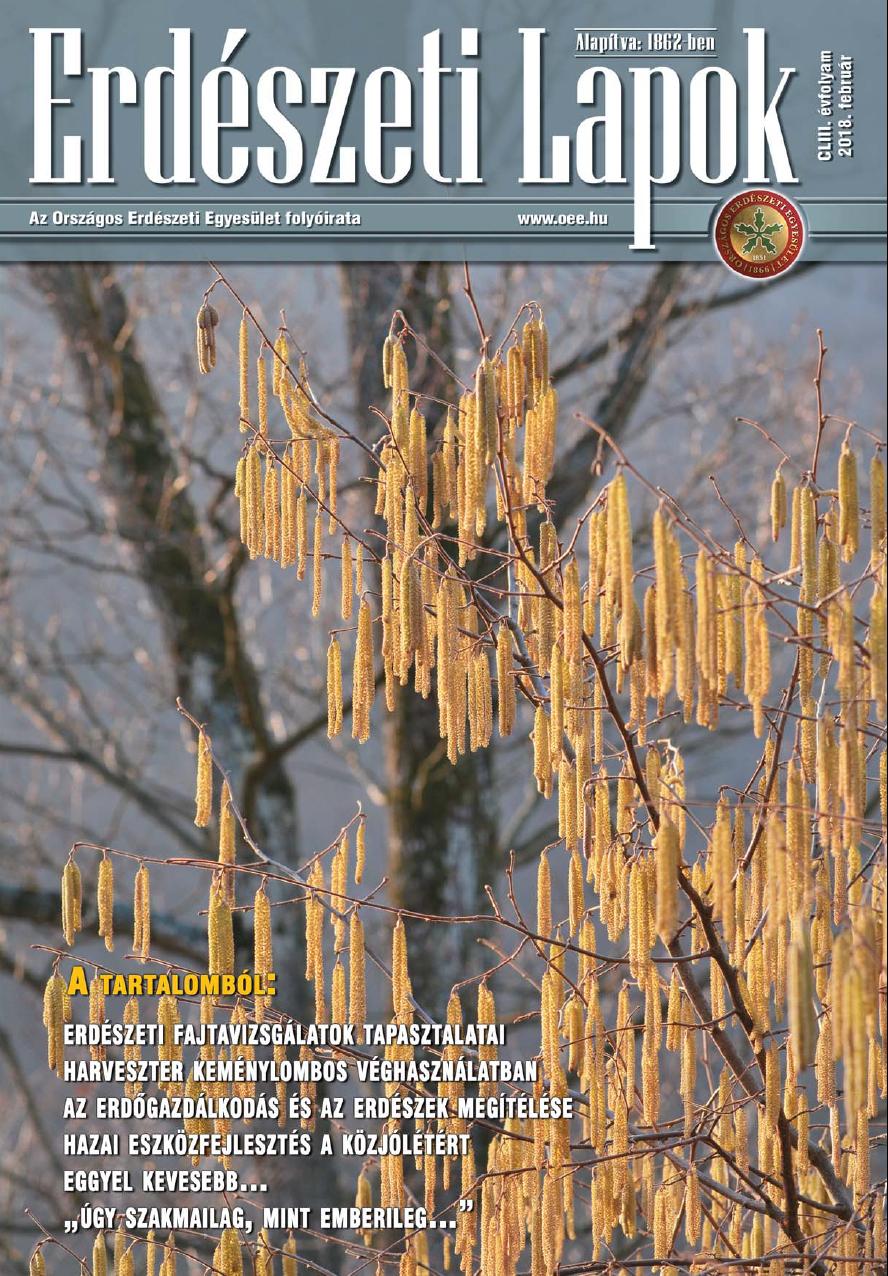 Erdészeti Lapok - 153. évfolyam - 2018. február