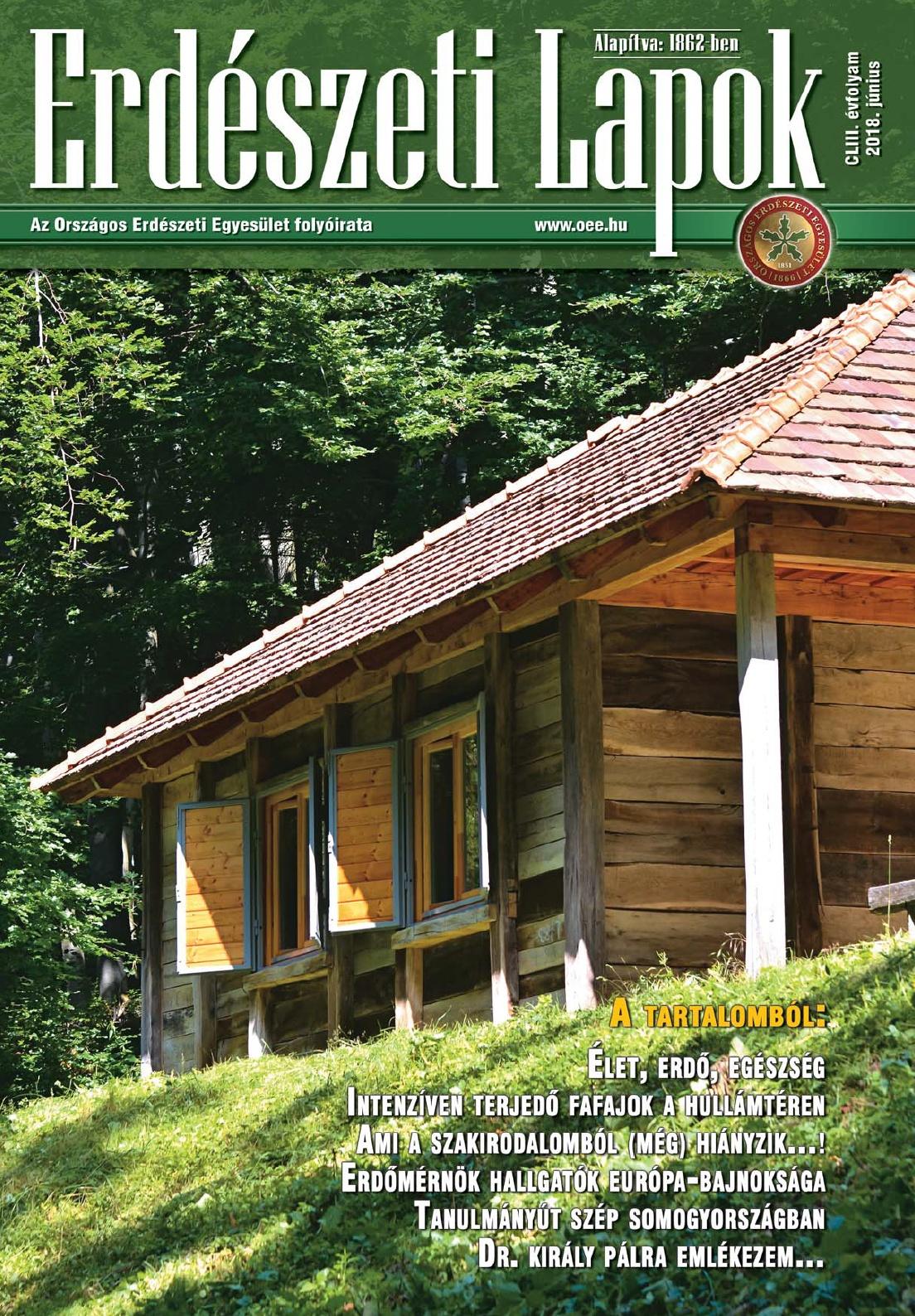 Erdészeti Lapok - 153. évfolyam - 2018. június