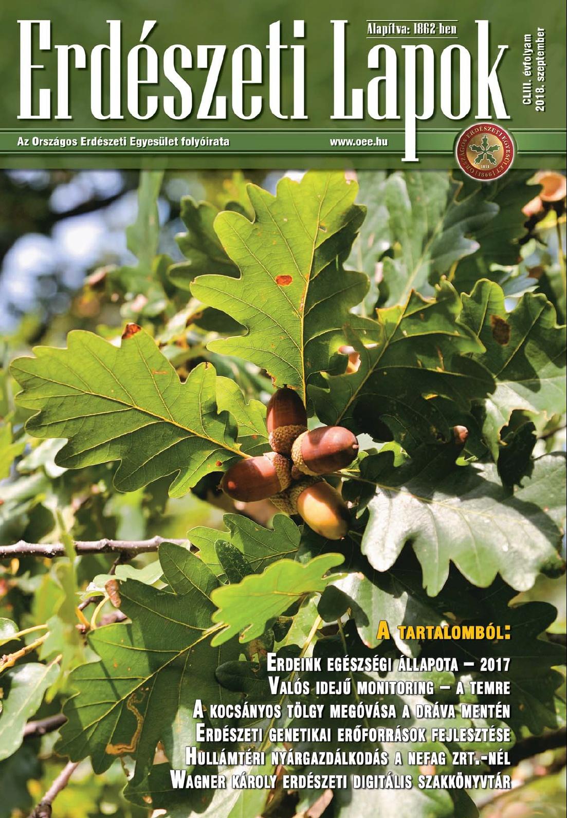 Erdészeti Lapok - 153. évfolyam - 2018. szeptember