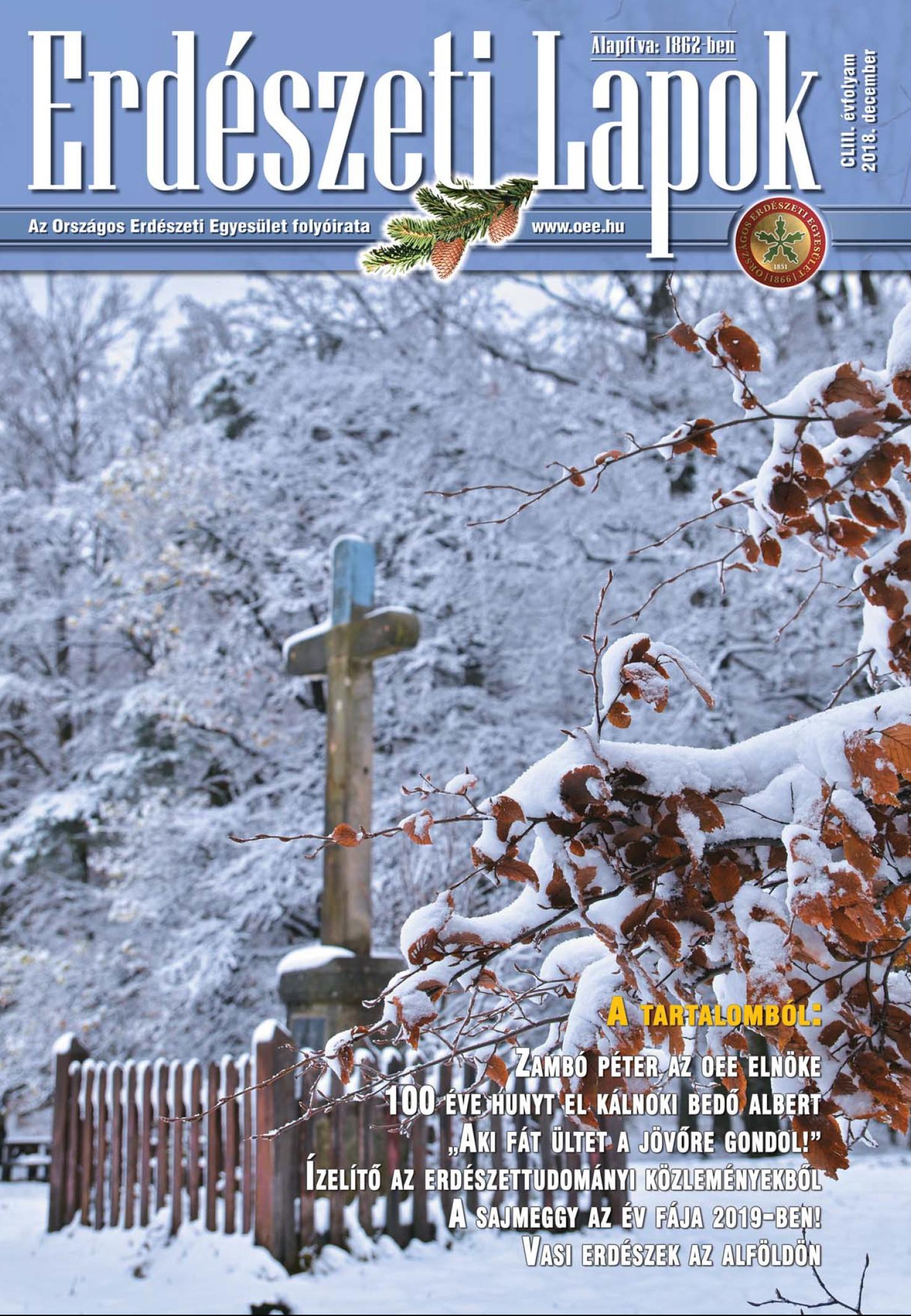 Erdészeti Lapok - 153. évfolyam - 2018. december