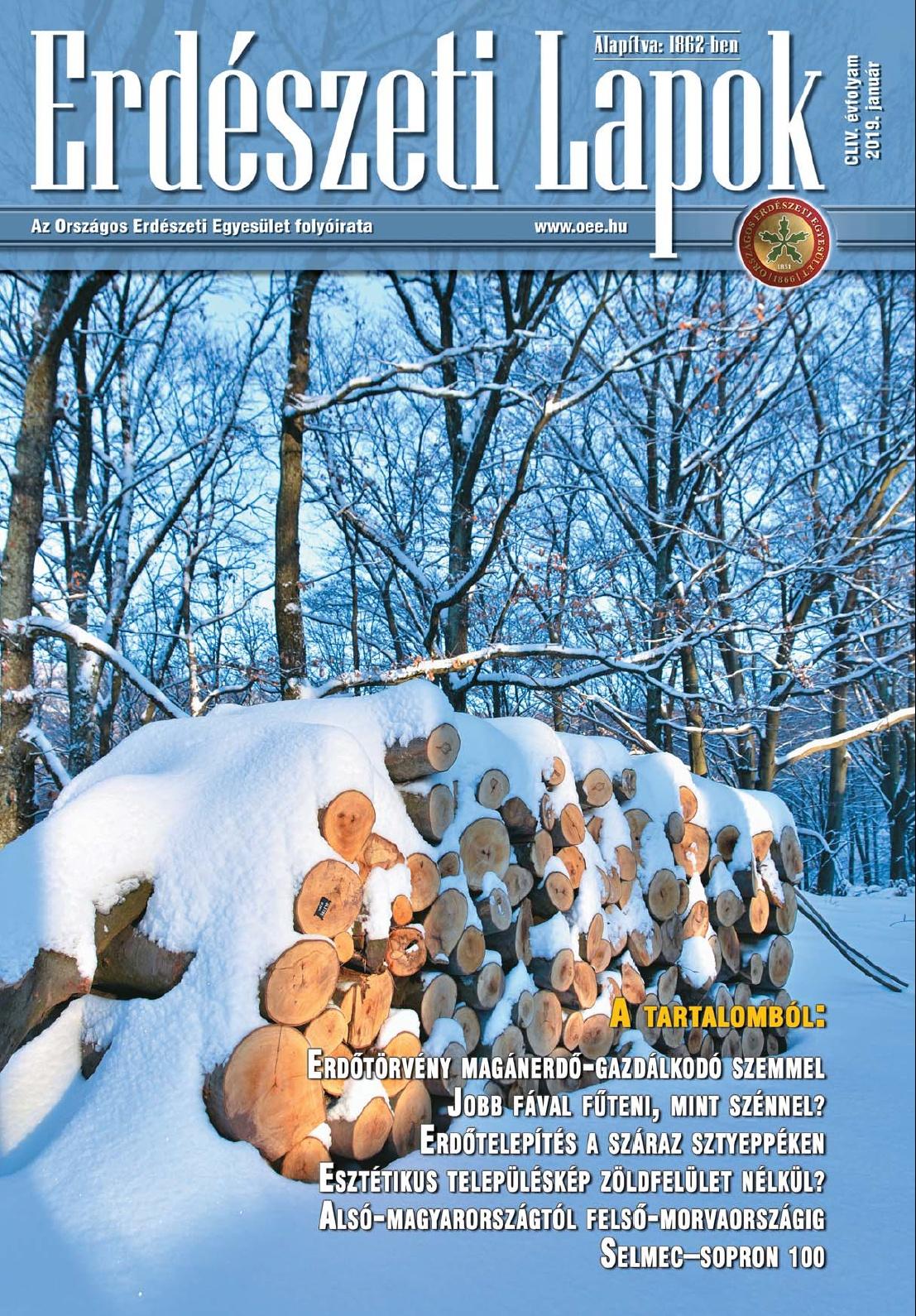 Erdészeti Lapok - 154. évfolyam - 2019. január