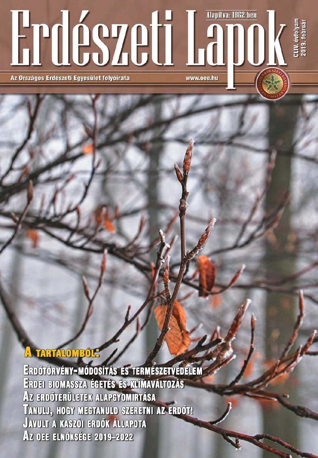 Erdészeti Lapok - 154. évfolyam - 2019. február