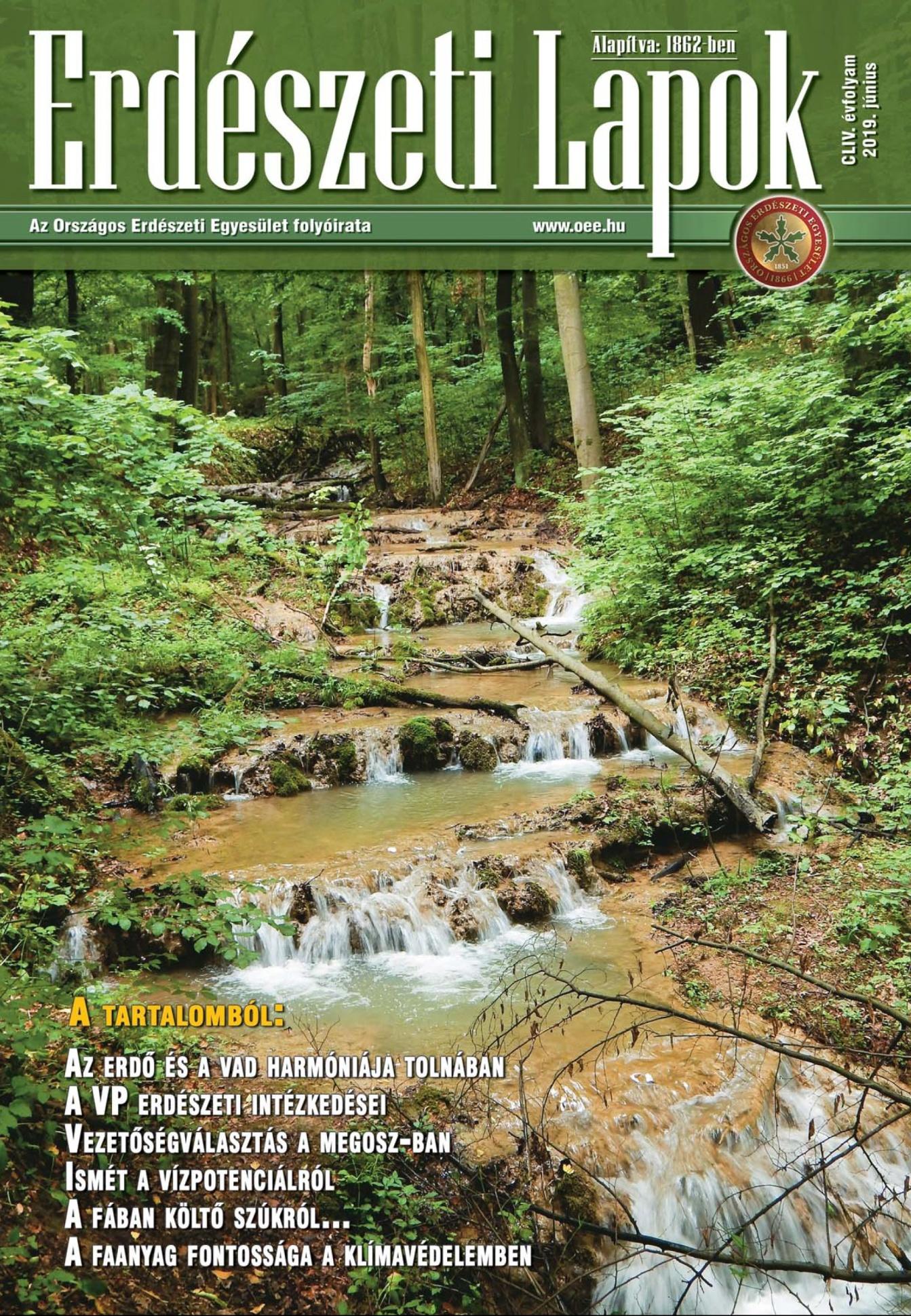 Erdészeti Lapok - 154. évfolyam - 2019. június
