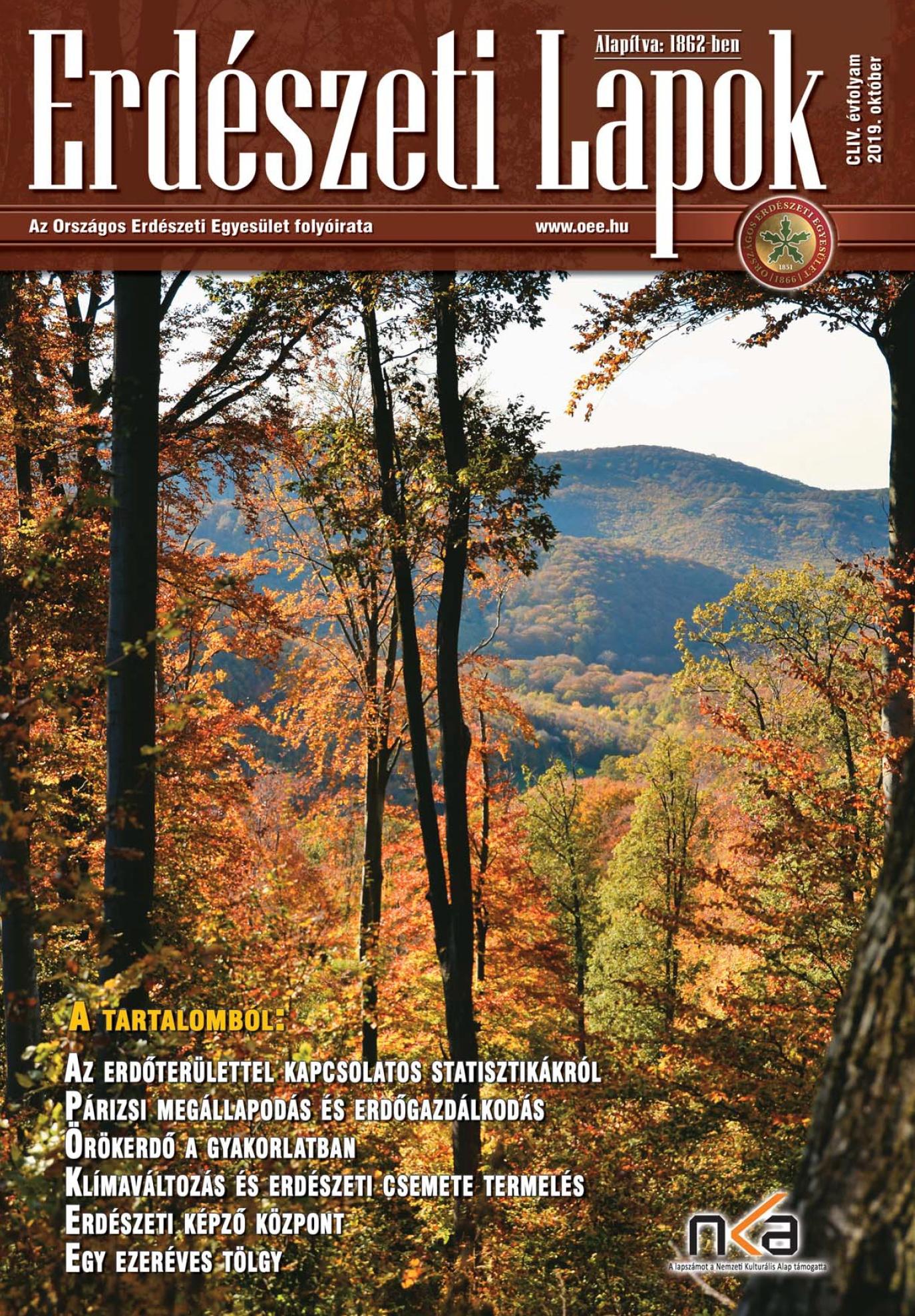 Erdészeti Lapok - 154. évfolyam - 2019. október