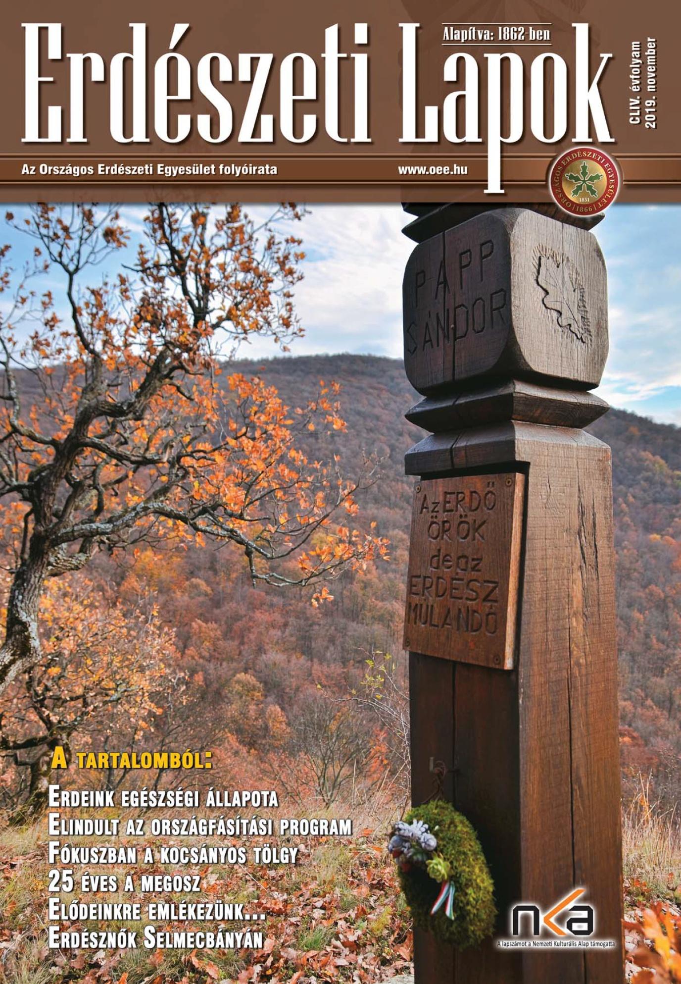 Erdészeti Lapok - 154. évfolyam - 2019. november