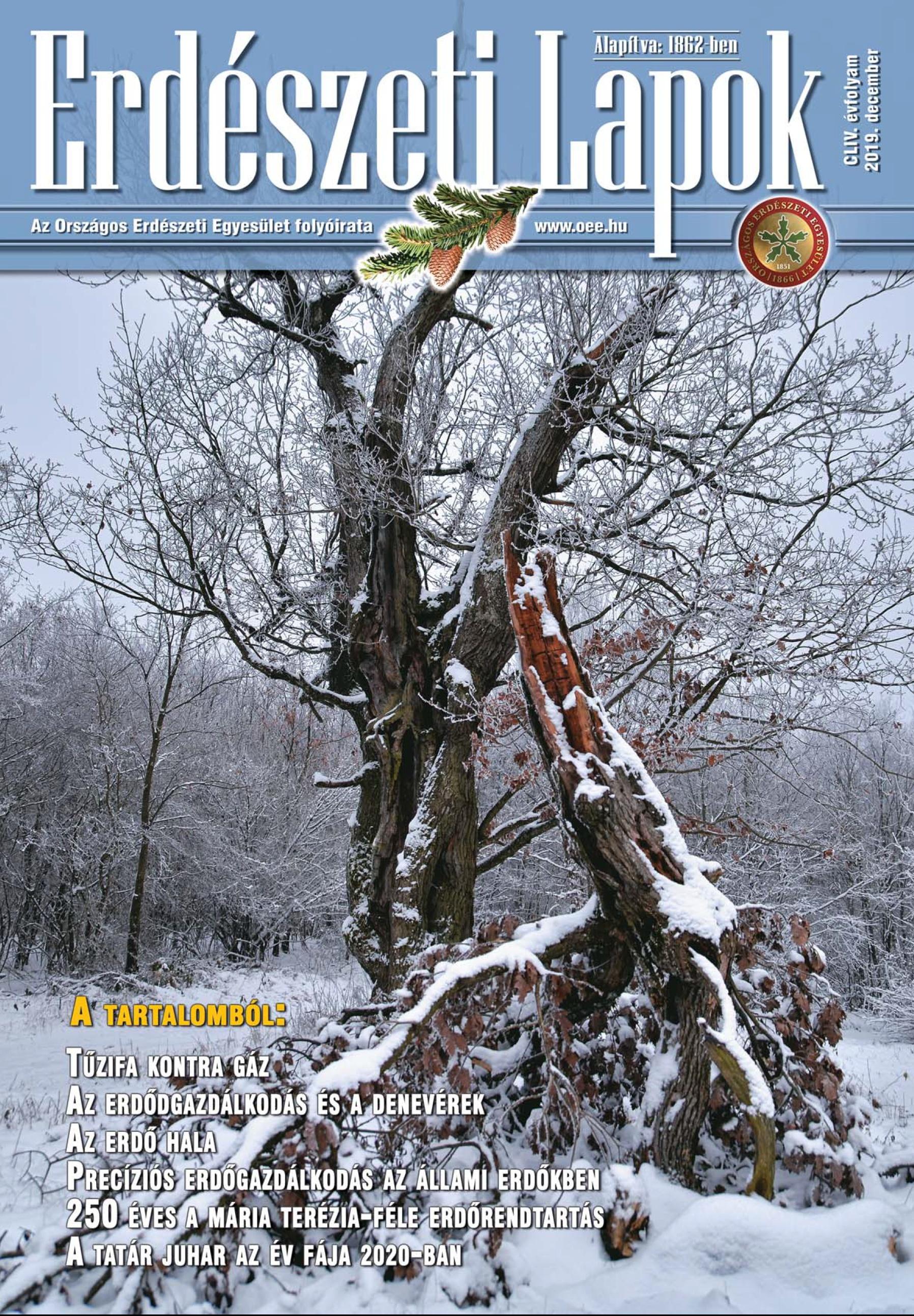 Erdészeti Lapok 154.évfolyam 2019. december