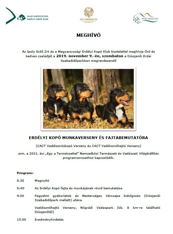 Magyar Erdélyi Kopó Munkaverseny és fajtabemutató