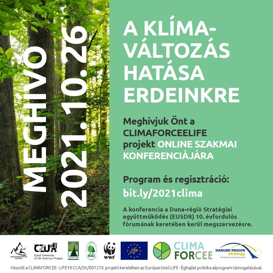 A klímaváltozás hatása erdeinkre - online konferencia