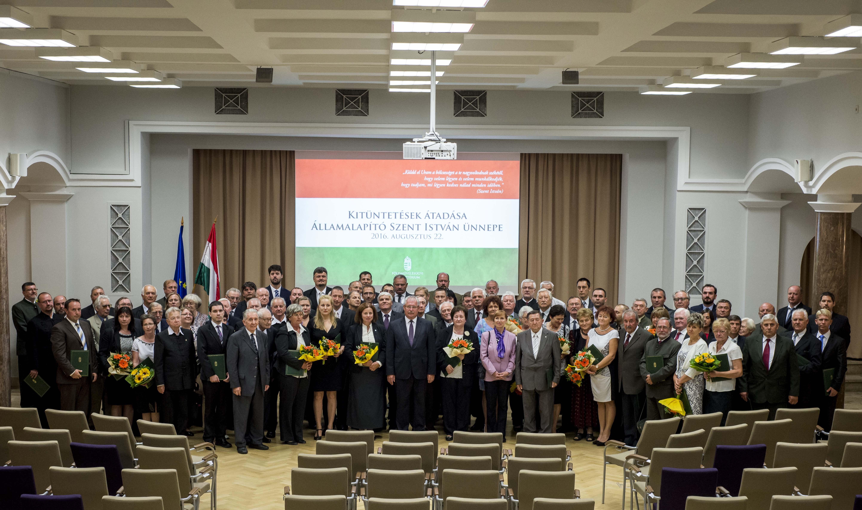 Erdész kitüntetettek az államalapítás ünnepe alkalmából