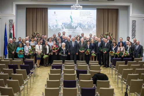 Erdész kitüntetettek október 23-a alkalmából