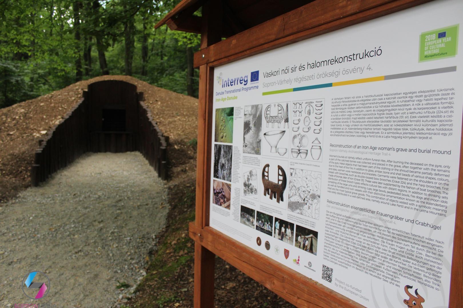 Régészeti tanösvényt avattak a Soproni Parkerdőben