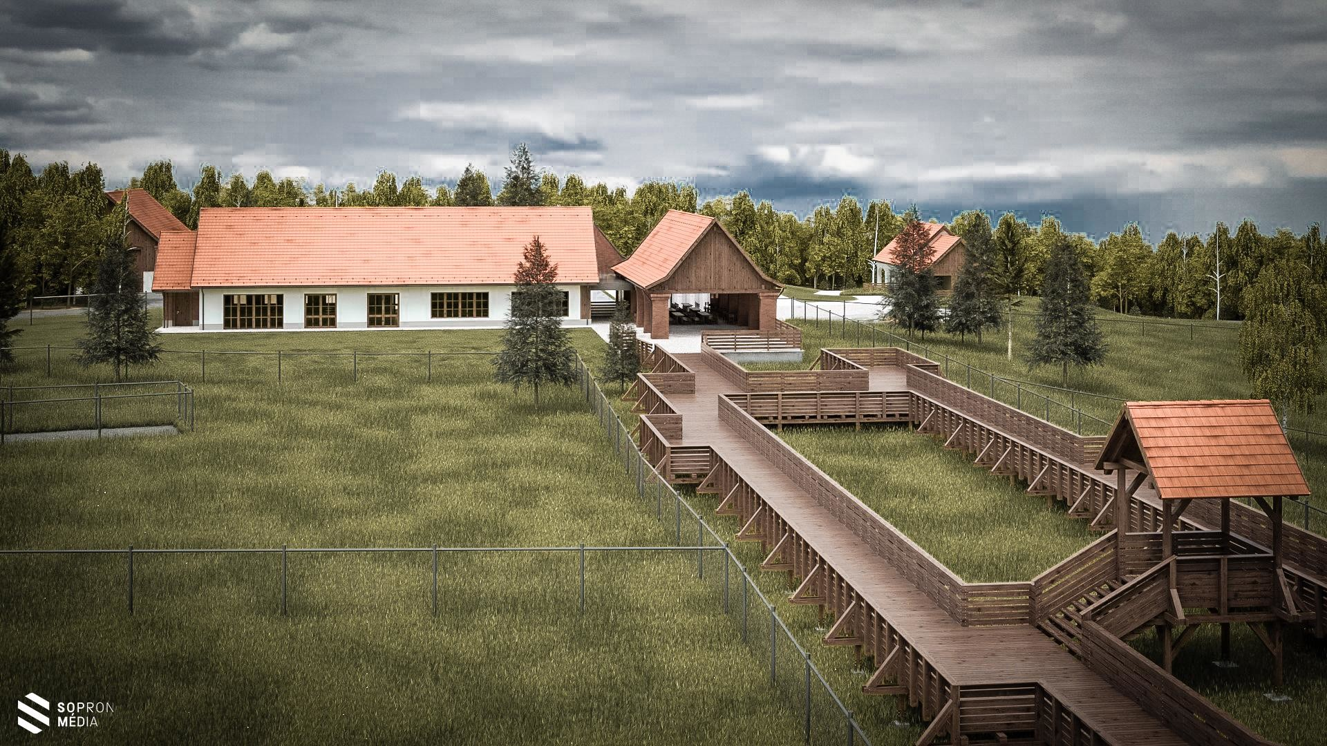 Erdő Háza látogató központot épít a TAEG Zrt. a Soproni Parkerdőben