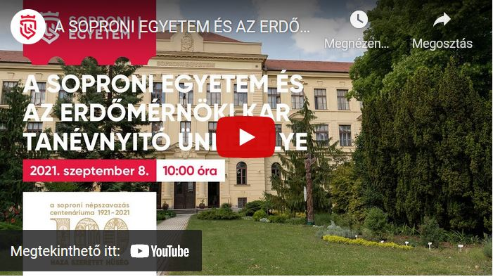 Visszanézhetőek vagy élőben követhetőek a soproni egyetemi tanévnyitó ünnepi eseményei