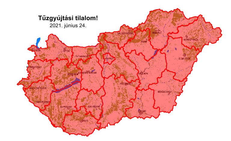 Országos tűzgyújtási tilalom lépett életbe 2021. június 24-től